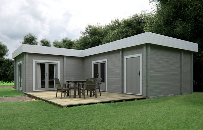Blokhut als zorgwoning in tuin naxos for Huis in tuin voor ouders