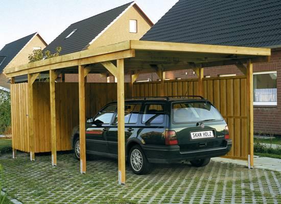 Carport houten carports aluminium carports en maatwerk for Garage de jardin pour voiture