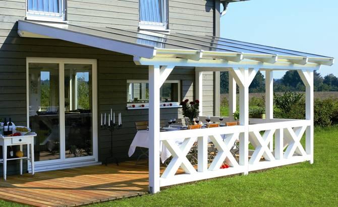 Houten veranda 39 s terrasoverkapping veranda queens - Veranda ou uitbreiding ...